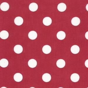 Red polka dot oilcloth