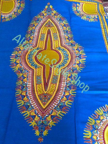 Turquoise Dashiki Shirt Fabric 6 yards Dashiki Fabric Turquoise Men's Dashiki Color by AlternateStyle on Etsy