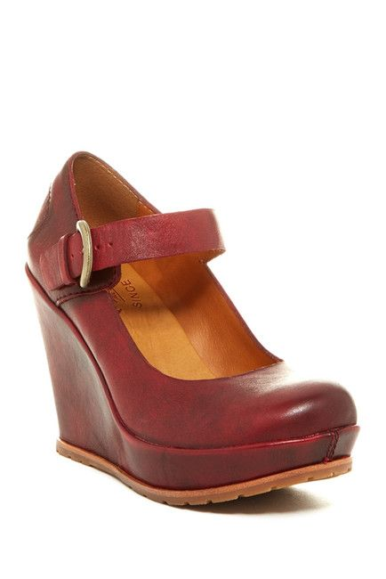 Yuli by Kork-Easy Platform Mary Jane Wedges with Round Toes