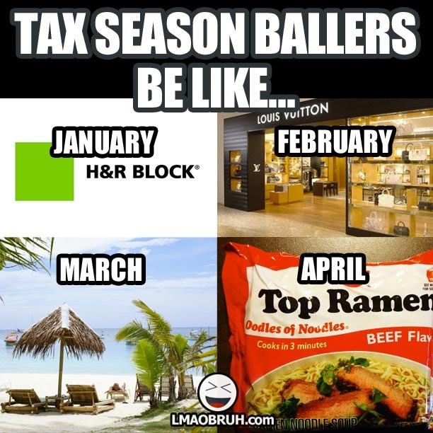 Parallelogram Tax Season Meme Meaning
