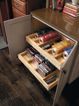 Media Storage Cabinet - contemporary - media storage - other metro - by MasterBrand Cabinets, Inc.