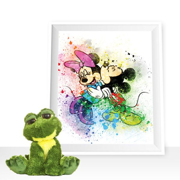 Mickey Mouse wall art, Minnie Watercolor mickey mouse printables mickey mouse Art Print, Minnie decor Disney Wall Art Disney art by HappyLittleFrog on Etsy