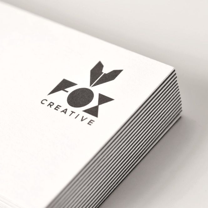 FOX Creative Corporate Identity. Business Card, Envelope, Invoice.