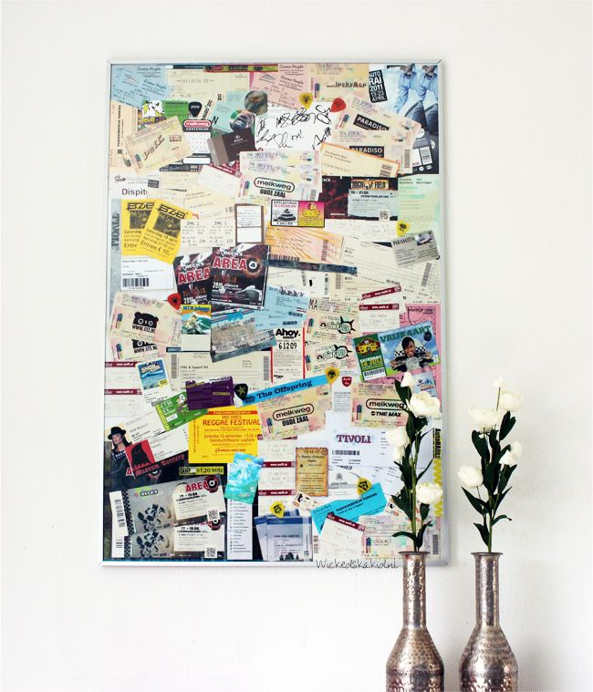 Do it yourself - Collage with concert tickets: