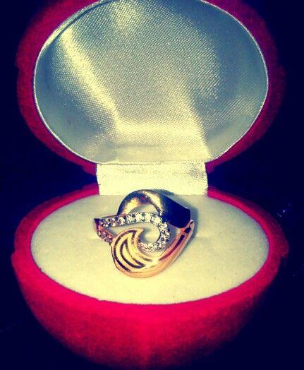 Heart Ring 2015 gold 21K 4.3 g