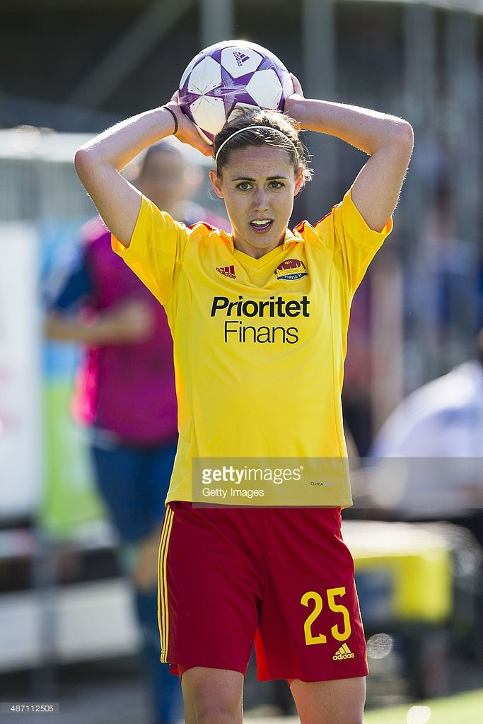 Meghan Klingenberg of Tyreso FF in action during the UEFA Women's Champions League Semi-Final Second Leg between Tyreso FF and Birmingham City Ladies on April 27, 2014 in Stockholm, Sweden.