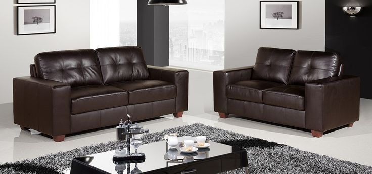 Roma 3   2 Seater Mocha Brown sofa set