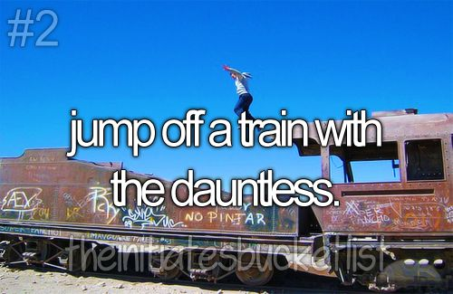 I want to do that, hmm, I probably shouldn't go anywhere near a train now because I'll probably try to jump on it lol