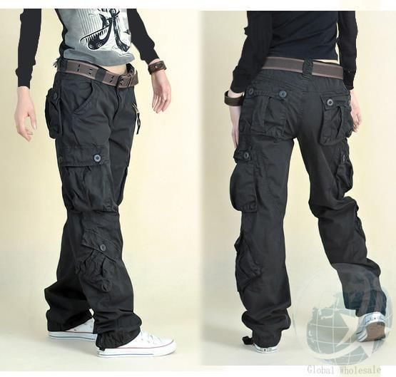 I'm sick of women's pants with unreasonable, unusable, ant-sized pockets. I need to get my grubby paws on a few pairs of decent cargo pants! This pair would do nicely.