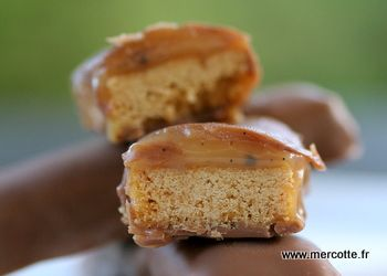 Barres choco caramel comme des Twix pour affronter les frimas, encore du Michalak… (Mercotte - FRENCH speaking recipe)