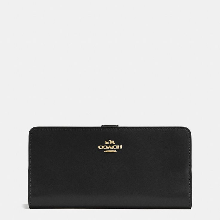 Shop The COACH Skinny Wallet In Refined Calf Leather. Enjoy Complimentary Shipping & Returns! Find Designer Bags, Wallets, Shoes & More At COACH.com!