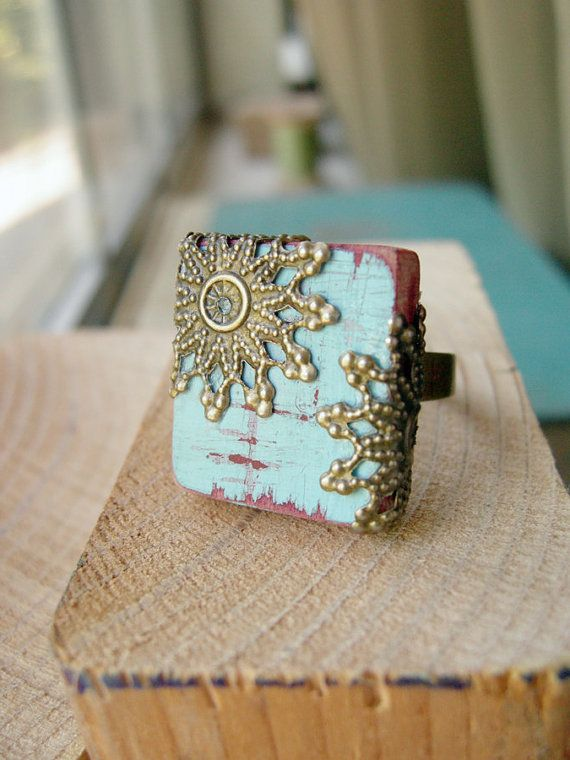 Cottage+Chic+Cockatoo+Adjustable+Scrabble+Tile+Ring++por+Flowerleaf,+$26.00