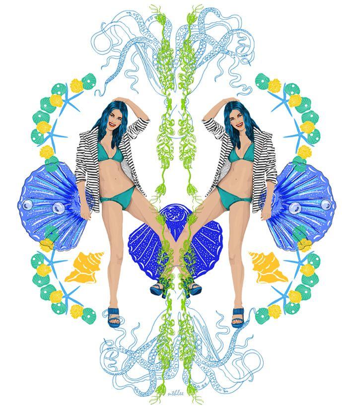 NTHLEE illustrations / NATALIA NAZIMEK #art #fashion #inspiration #love #illustration #outfit #cap #beautiful #model #summer #floral  #digitalart #digital #graphicdesign #madewithwacom #wacom
