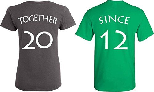 YOUR DATE  2012 or else  Together Since Matching Couple Anniversary Shirts  PERSONALIZED *** Want additional info? Click on the image.