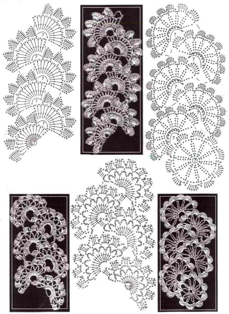 Crochet leaves_Not exactly leaves but are so organic and harmonious forms that remind me of vines / Hojas de ganchillo_No son exactamente hojas pero son formas tan orgánicas y armoniosas que me recuerdan a las enredaderas