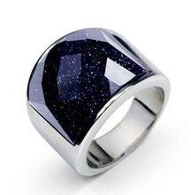 Ia01 nueva joyería de la llegada acero inoxidable 316L anillo hombres con piedra de ágata(China (Mainland))