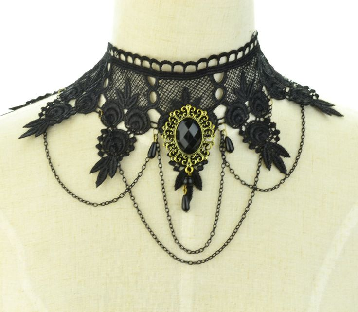 Fashion jewelry cool cloth Lace Tattoo Fake collar choker necklace  gift for women girl  N1914