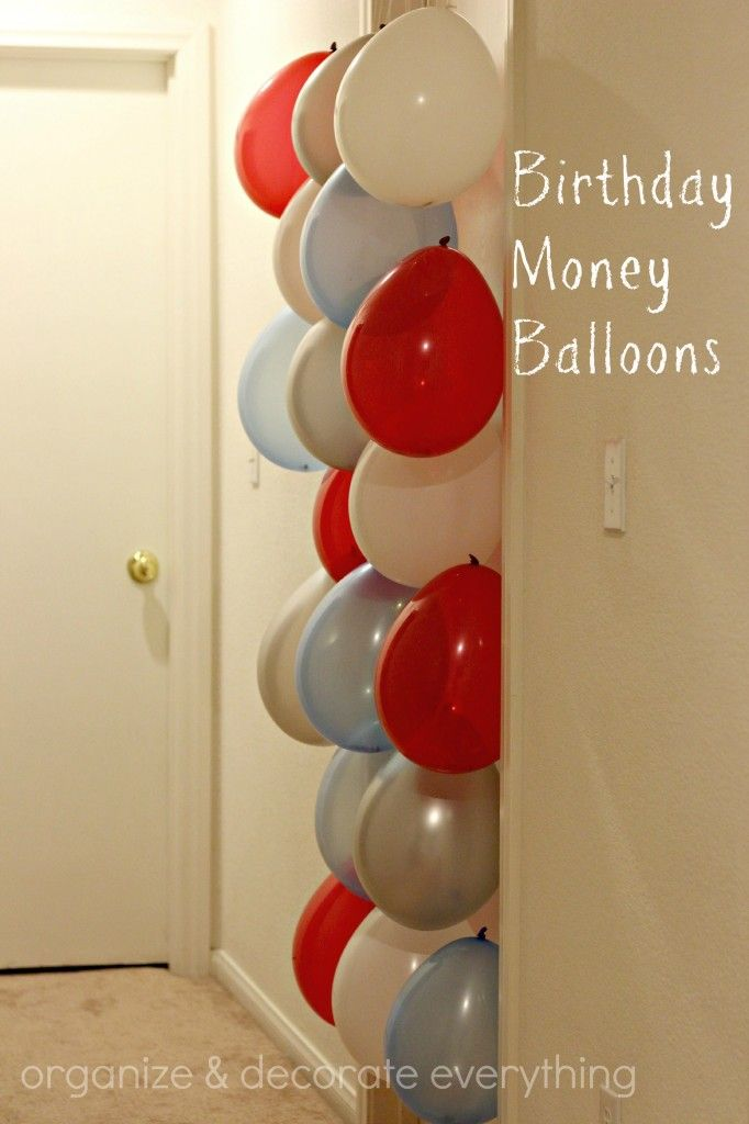 Birthday Money Balloons For Sister's 15th bday