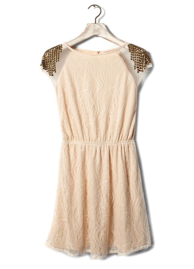 Fall in rock! - Romantic dress (Pull & Bear)