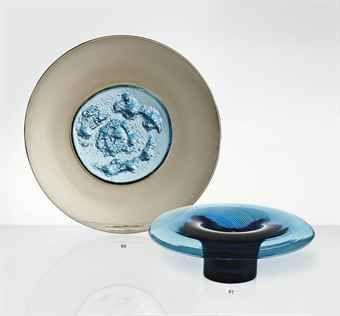 Tapio Wirkkala (1915-1985).  Plate, 1969-1970.  Medusa, vase, 1966.