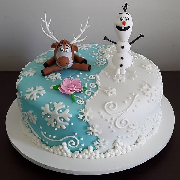 40 ideias de bolos do Frozen                              …