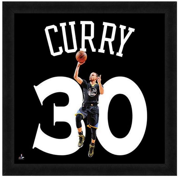 """Stephen Curry Golden State Warriors - Officially Licensed 20"""" x 20 Uniframe"""