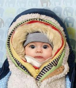 . . .baby, it's cold outside. . .must be a Wisconsin baby.: