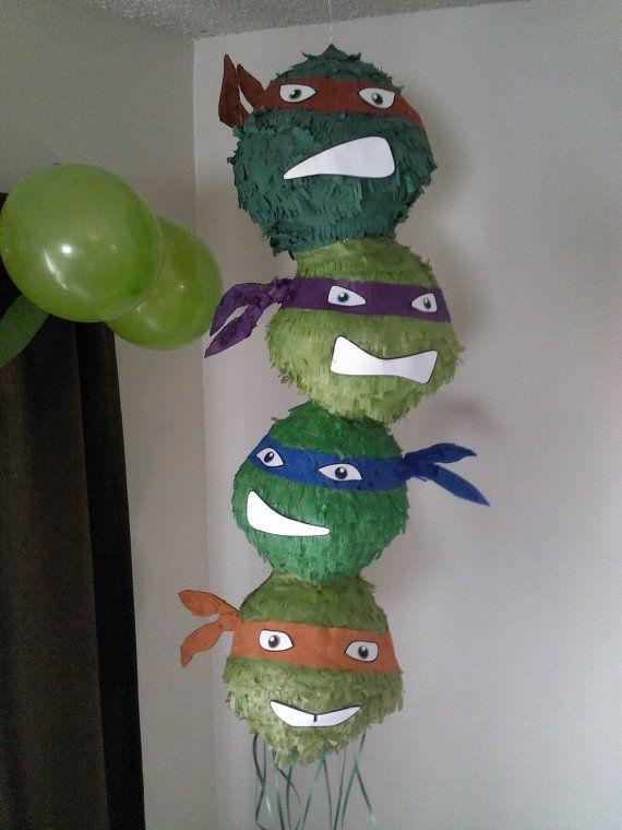 TMNT Teenage Mutant Ninja Turtles Pinata by SmashingFunCreations, $65.00