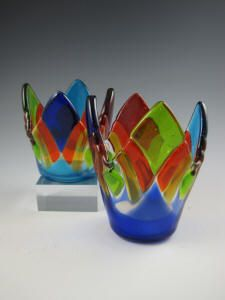 Kathy Hudson's line of fused glass.