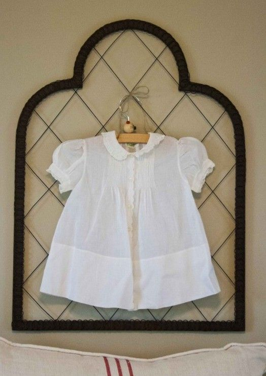 A great decor idea? Use vintage baby dresses! #homedecor #frenchdecor