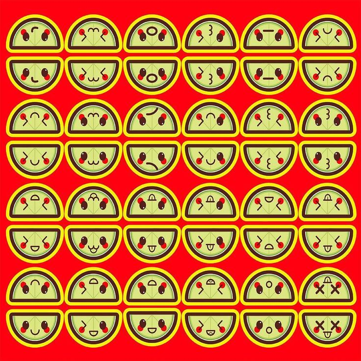Kawaii Limes . . #kawaii #cute #lime #limes #fruit #pattern #art #illustration #vector #graphicdesign #adorable #faces #anime #design #graphic #red #green #visual #creative #digital