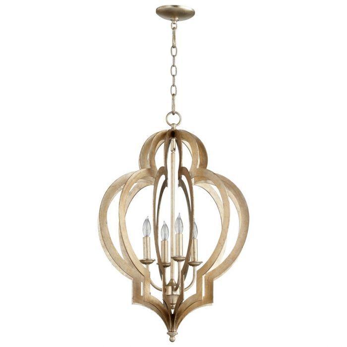 Cyan design vertigo 19 4 light chandelier in silver leaf