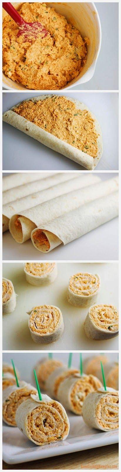 Buffalo Chicken Tortilla Pinwheels | Recipe | Pinwheels ...