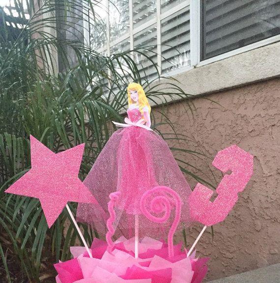 Dormir belleza Disney princesa tema centro de mesa, pieza central de la Aurora
