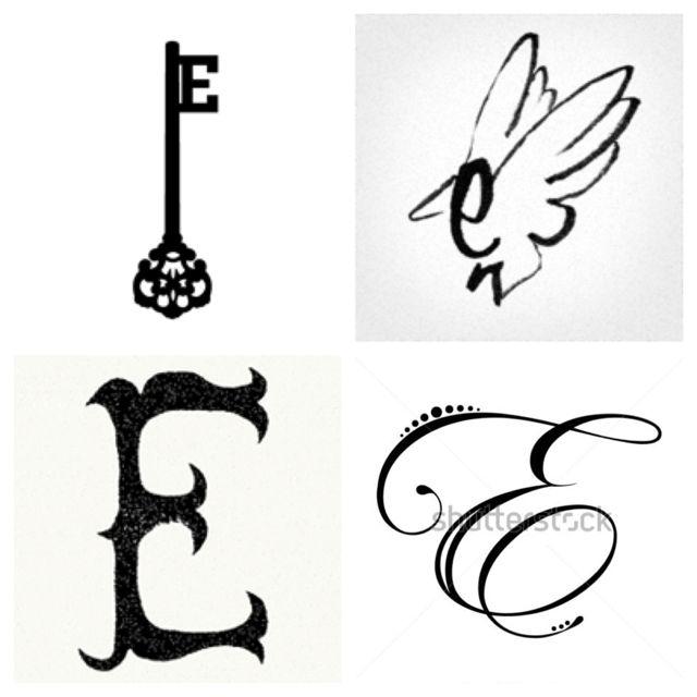 letter e designs tattoo komseq