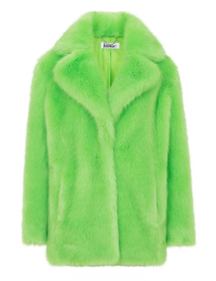 heather-lime-green-faux-fur-coat