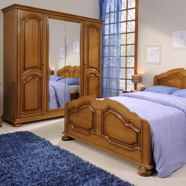 Armoire dressing pise aspect ch ne et h tre 4 portes mobilier pour la chambre - Armoire encastrable pour chambre ...