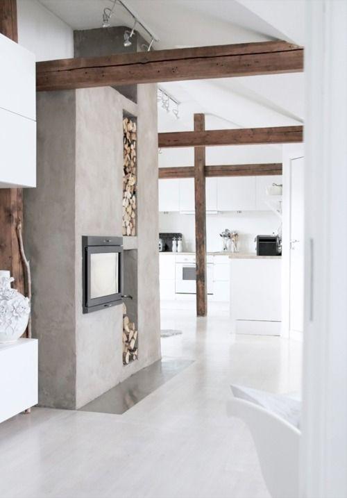 Betonlookdesign.nl mooi muurtje in combi met hout