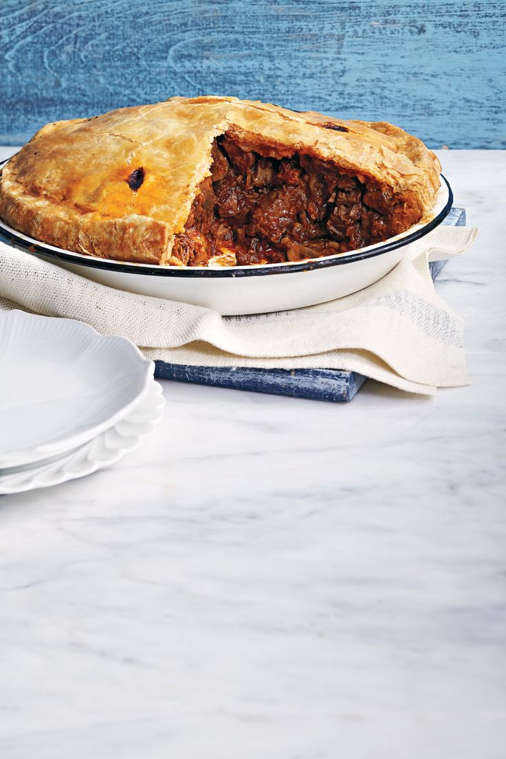 Welcome to Canadian Living  Beef and Mushroom Pie!  This looks amazing for a cool night or fall dinner!