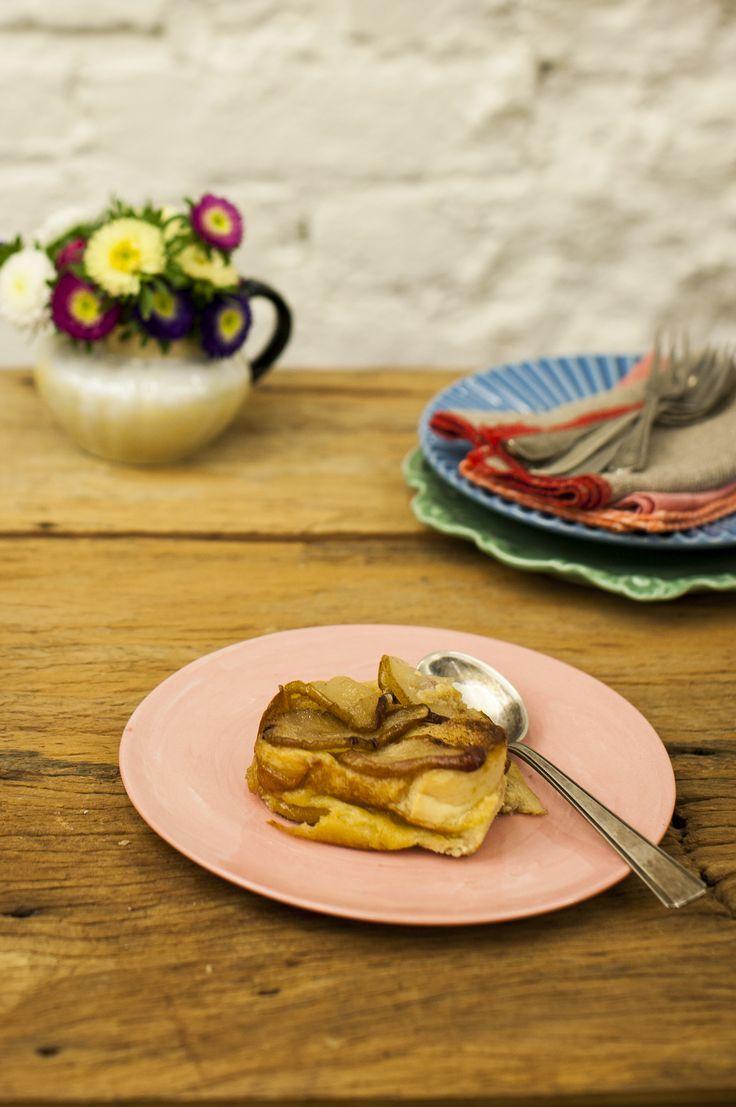 #NatalPanelinha: pudim de rabanada com peras