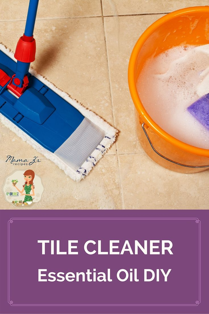 Keep your kitchen clean, fresh, and toxin-free with this essential oil tile cleaner! #DIY