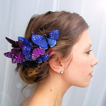 butterfly clips hair styles 25 best ideas about butterfly hairstyle on 6221 | c4cf2776a8bcc710d4fcfcfbbf6986e1 bridesmaid hairstyles bridal hairstyles
