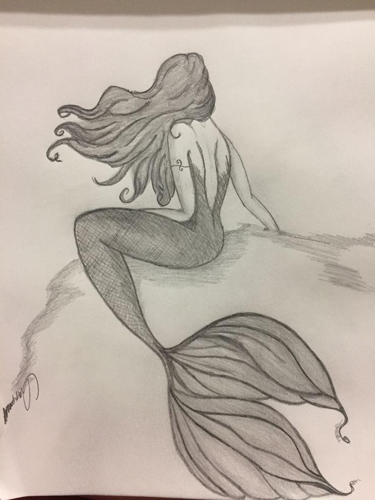 Русалка картинки для срисовки