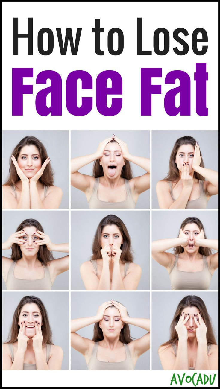 Looking to lose face fat? Science behind what causes it + how to lose weight in your face - http://avocadu.com/lose-face-fat/