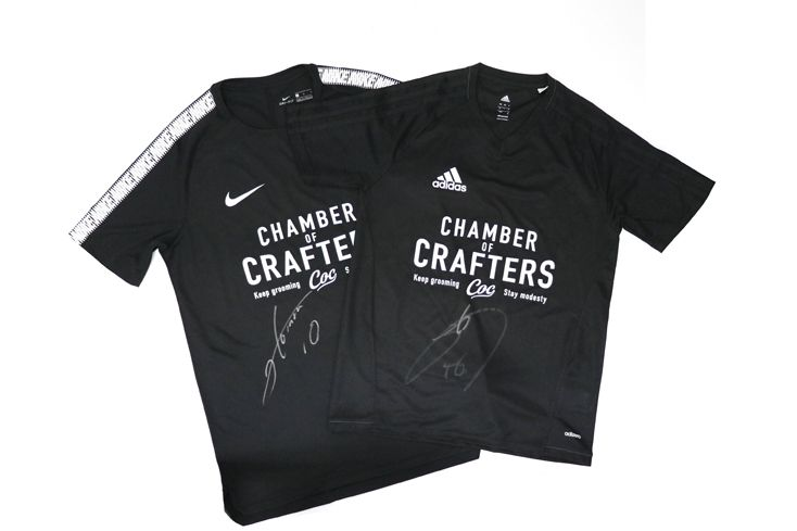 CHAMBER OF CRAFTERS (COC) Soccer Shirts.  #chamber of crafters #grooming #barbershop #barber #menscare #skin care #beauty #keep prime #crafter #inspiration #new products #japanese #made in Japan #vintage #retro #pin up #men fashion  http://chamberofcrafters.com/