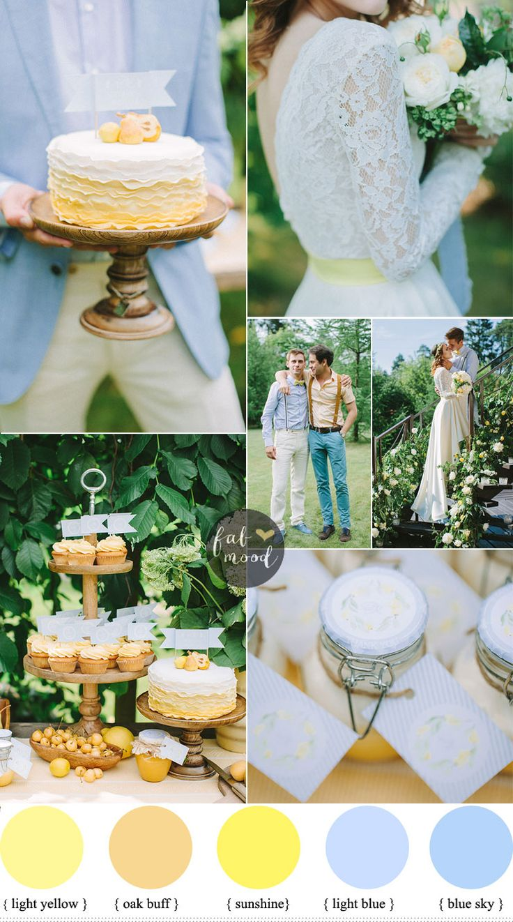 Blue And #yellow Wedding Color Schemes { Garden Wedding } See More  #weddingpalette On