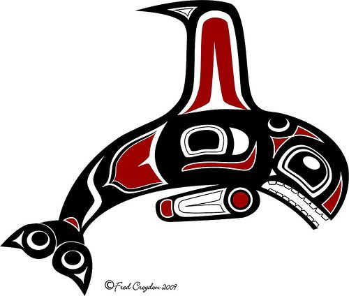 Haida Orca art. Love Haida artwork. This is by Fred Croydon.