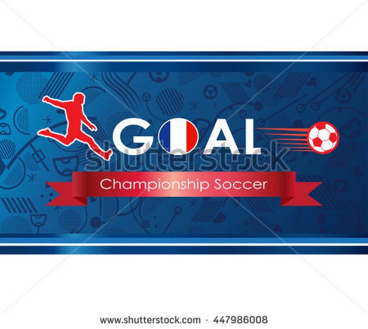 European football 2016 background. France Championship Soccer logo. Goal. Goal Winner. Soccer goal icon. 2016 Abstract soccer goal illustration. Champion league vector. Europa 2016 Final.