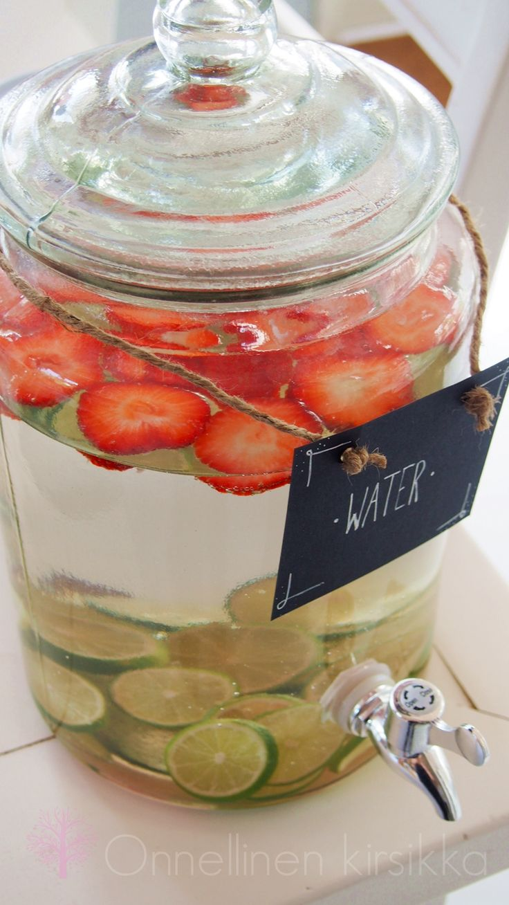 lime & strawberry water