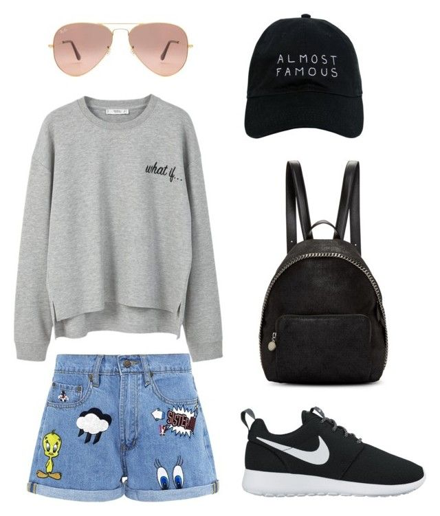 """""""READY FOR HOLIDAY!💕"""" by fhk21 on Polyvore featuring NIKE, MANGO, Paul & Joe Sister, STELLA McCARTNEY, Ray-Ban and Nasaseasons"""
